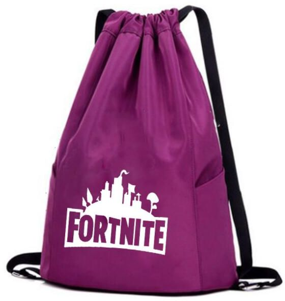 Fortnite nylon shoulder bag casual Drawstring Bag Gym Sackpack ... 95a0bf6c7c368