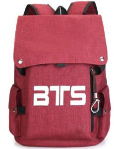 BTS School student Bookbag backpack Travel Rucksack Fans Fits up to 15.6  inch Laptop red bag for women  668e757547061