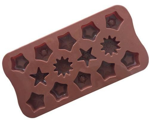 Baking Tool 14 Grid Different Star Shape Silicone Chocolate Biscuits Mold Ice Tray Candy Decorative Utensils