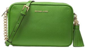 747e71b84bd1 Michael Kors Ginny Leather Crossbody Bag For Women - True Green