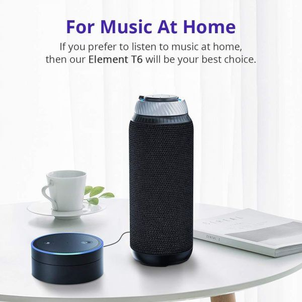 innovative design 13b3e 1e102 Bluetooth Speakers, Tronsmart T6 25 Watt Dual-Driver 15 Hours Playtime 360  Degree Surround Sound Portable Wireless Speaker with Deep Bass for iPhone  ...