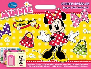 Bendon Disney Minnie Mouse Sticker Dress Up Paper Doll Artist Pad Coloring Activity Book
