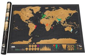 Souq scratch off world travel map poster copper foil wall sticker 3900 aed gumiabroncs Choice Image