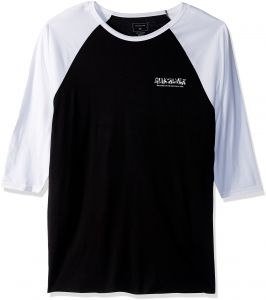 cbcfab8550225 Quiksilver Men s The Original M and W 3 4 Sleeve Tee Shirt