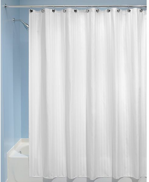 InterDesign Satin Stripe Fabric Shower Curtain Liner