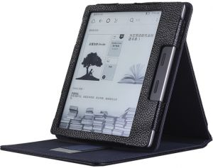 Buy leather case cover for amazon kindle 4 black 4225366