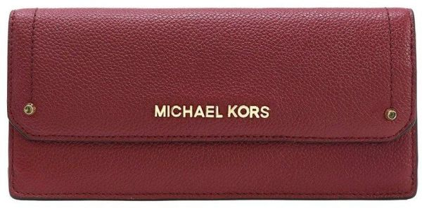 54acac96f0b8 Michael Kors Jet Set Travel Slim Saffiano Leather Wallet Mulberry | Souq -  UAE