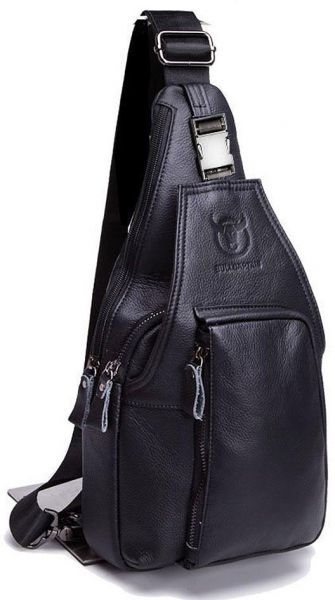 2b0e75b2b1 Men Sling Bags Genuine Leather Crossbody Shoulder Chest Bag Business Casual  Backpack Outdoor Travel Daypack. by BULLCAPTAIN
