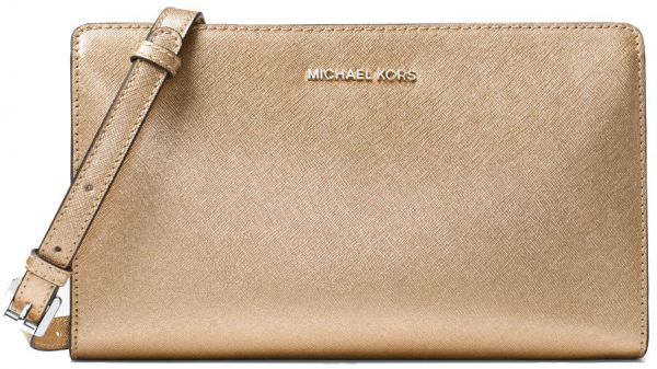565a3f7bb2bb Michael Kors Jet Set Travel Large Convertible Leather Crossbody ...