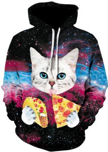 Plstar Cosmos Men Women 3D Hoodies Animal Print Funny Pizza Funny Cat Space  Galaxy Sweatshirts With Hat Autumn Thin Hoody Tracksuits d58bcfb10