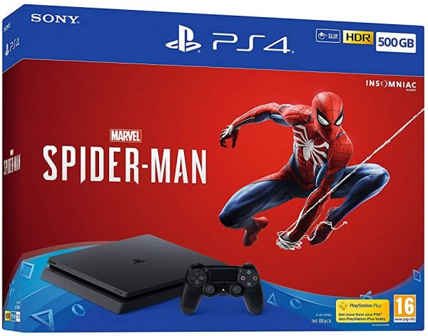 b7e48219b71ee Sony Playstation 4 Slim Console 500GB with Marvel's Spider-Man