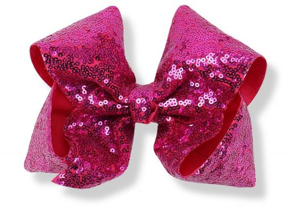 JoJo Hair Bows for Girls Large 5inch Shiny Sequined Bow Hair Clip ... 676a42bcfa