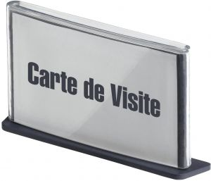 PaperFlow Signage Holder Fits Up To 2 1 6 X 3 Inch Business Card Charcoal SCV11