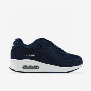 8e8f8906a206d7 Increased Breathable Large Size Casual Sneakers Blue White XD059-2