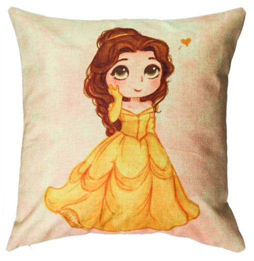 muted Case Colorful lovely Princess Belle Watercolor Splatter Splash  Artistic Square Throw Pillow Cover for Men Women Kids Cushion  b1fcbbaf1