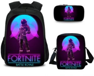 585e44340a 3PCS  set student Printed Game Fortnite Backpack School Bags For Girls and  boys Travel Students nylon School Shoulder Bag Backpack Causal Laptop Bag HB