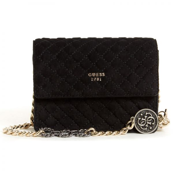 d3a9e5187298 Guess Bags Handbags And Backpacks Scalia Group. Gallery. Gallery. Lyst Guess  Wo Black Leather Quilted Effect Crossbody ...