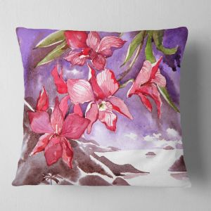 Designart CU6174-16-16 Tulips Flowers Floral Cushion Cover for Living Room Sofa Throw Pillow 16 in x 16 in in