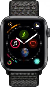 a25e7baf4 Apple Watch Series 4 - 40mm Space Gray Aluminum Case with Black Sport Loop,  GPS, watchOS 5