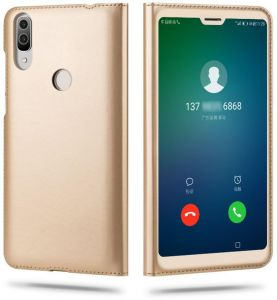 16d0af3b4b Flip Cover Leather Case open window For Xiaomi Redmi Note 5 Pro - Gold