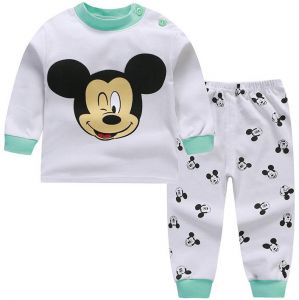 Cotton comfortable children Sleepwear set boys and girls 0-5 years old baby  pajamas 03 6844ab03d