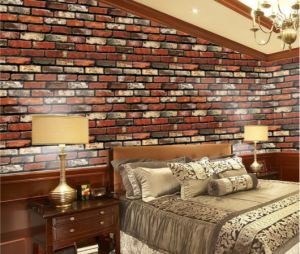 simulation rock brick wall stickers bedroom living room TV background decor Wall paper-ee