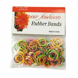 170 MULTIPLE MIXED NEON COLORED Rubber Bands Great for Dog Grooming Top Knots, Bows, Braids, and Dreadlocks