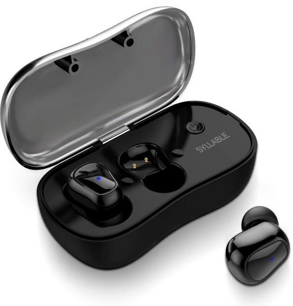 a4896a6cf24 Truly Wireless Headphones for Sports, Syllable in-ear earbuds with Mic HiFi  Sound Sweatproof Ear Pods with Charging Box for Android iPhone, ...