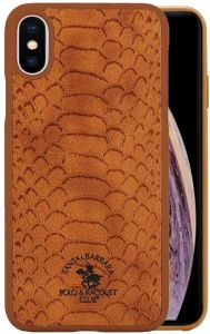 3187457d0 Santa Barbara Polo and Racquet Club for Apple iPhone XS MAX 6.5 inch Knight  Series Leather Back Cover Case