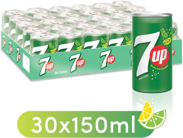 7up carbonated soft drink mini cans 30 x 150 ml souq uae