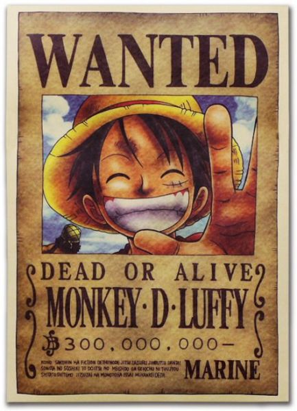 Anime One Piece Pirates Wanted Posters Monkey D Luffy Poster Home