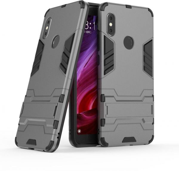 best sneakers 27f13 fe1e5 Xiaomi Redmi Note 5 AI Edition Or Xiaomi Redmi Note 5 Pro Armor Hard PC  soft Silicone Case with Stand - Gray