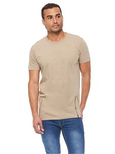 84e244538 Brave Soul MTS-36FALCONI T-Shirt for Men - Stone