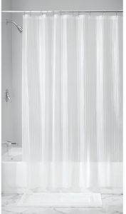 InterDesign Doodle Stripe Decorative PEVA 3G Shower Curtain Liner PVC FREE MOLD MILDEW RESISTANT ODORLESS No Chemical Smell