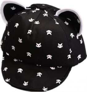 black Toddler Infant Boy Girl Lovely Cartoon Bear Ear Beanie Caps Newborn  Warm Winter Hats ddbb2243df17