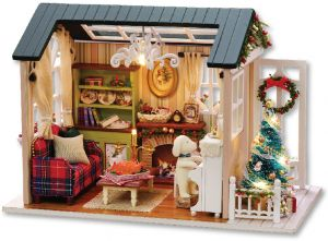 DIY Miniature Dollhouse Kit Realistic Mini 3D Wooden House Room Craft With  Furniture LED Lights Childrenu0027s Day Birthday Gift