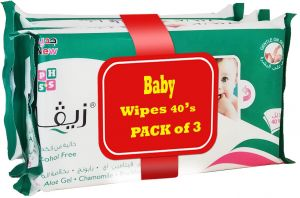 Ziva Baby Wipes Extra Sensitive 40 Wipes Pack of 3