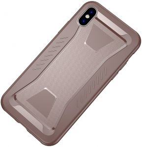 IPhone XS mobile phone case all-inclusive silicone Apple iphone 9 protective cover TPU anti-drop mobile phone set creative soft-Brown