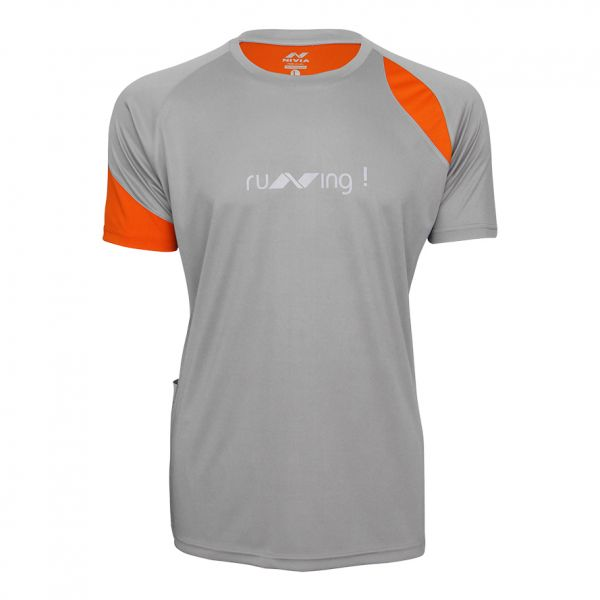 Nivia Oxy-3 Running T-Shirt for Men - Grey bb0a8d182