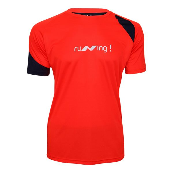 Nivia Oxy-3 Running T-Shirt for Men - Red and Black cbc8e722d