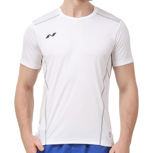 Nivia Oxy Fitness Jersey for Men - White 115a6cfd5