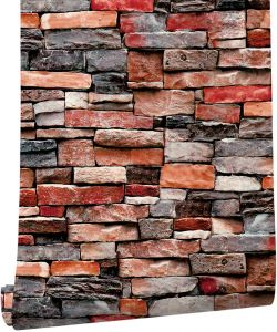 Haokhome 61030 3d Brick Wallpaper Self Adhesive Living Room Kitchen Home Wall Decoration