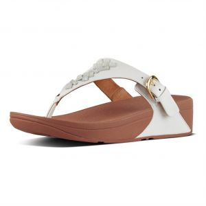 c1b3ef70df41d FitFlop White Thong Sandal For Women