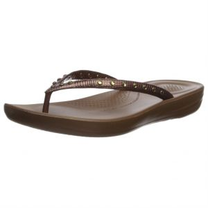 08739e75f02e38 FitFlop Bronze Flat Sandal For Women
