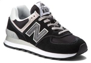shoes for cheap top fashion coupon codes New Balance NB-574 Walking Sneakers For Women - Black