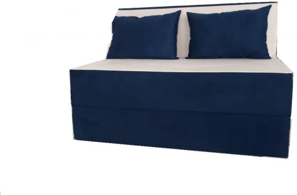 Sofa Bed Duo Two Seater Sofa With 2 Cushions Dark Blue And