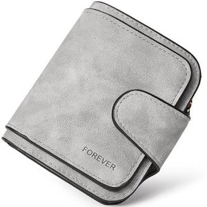 Wallet for Women Leather Clutch Purse Long Ladies Credit Card Holder Organizer Grey
