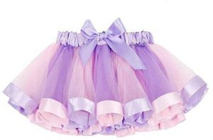 3005e535aa648 Layered Skirt Girls Mini Rainbow Tutu Skirt Bow Dance Dress Colorful Ruffle  Tiered Tulle