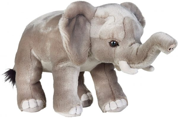 African Elephant Toys For Boys : Mother and baby elephant toys isolated on white background stock
