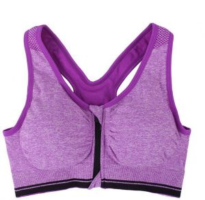 40fcb1171f54a Women s Padded full Coverage Front Zip Closure Sports Bra for Gym